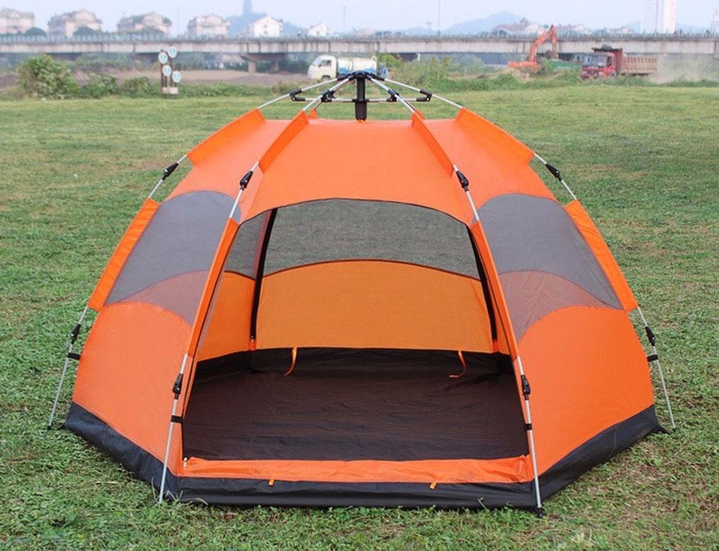 Lều tự động màu cam