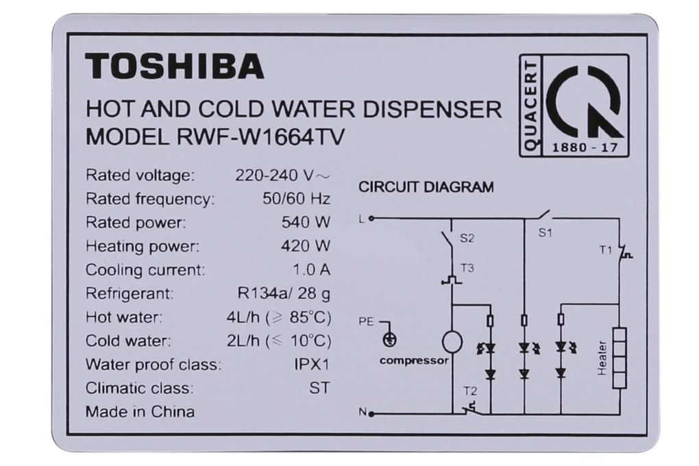 Thông số kỹ thuật của cây nước