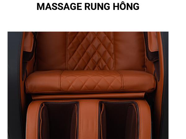 Tập trung massage hông mạnh mẽ