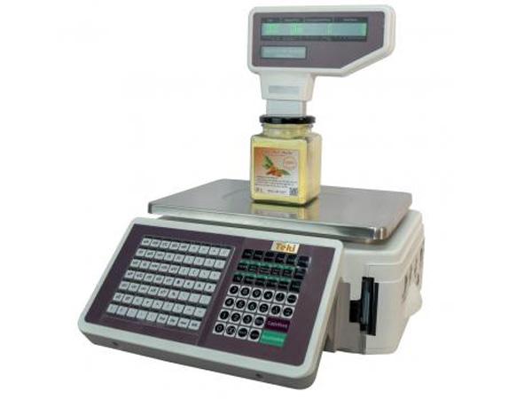 Hình ảnh cân điện tử in tem và in bill tính tiền Teki SA2