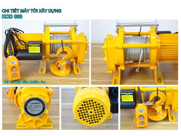 Chi tiết tời điện KCD800