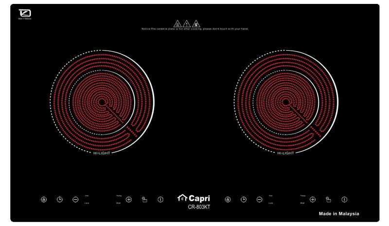 Bếp hồng ngoại đôi Capri CR 803 KT
