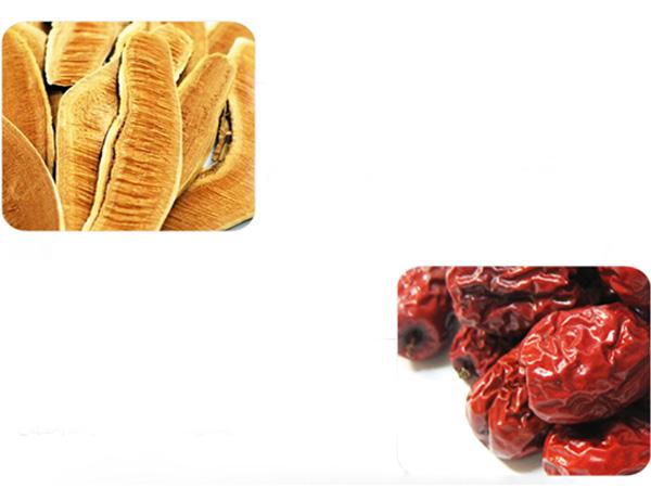 Hình ảnh của linh chi và táo đỏ