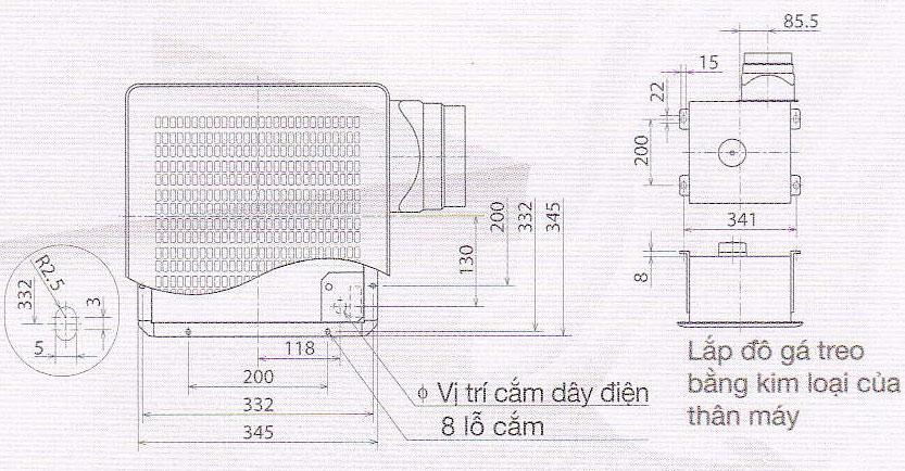 Quạt hút VD-20ZP4T3