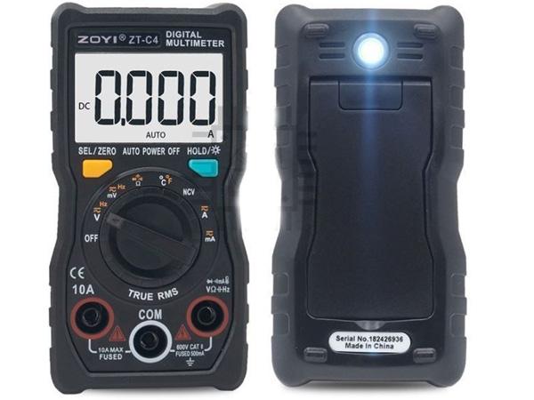 Mặt trước và sau của thiết bị đo
