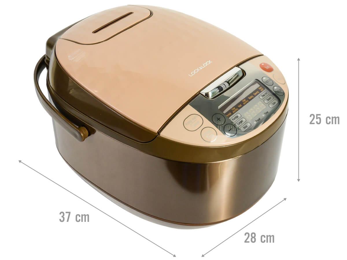 Kích thước nồi cơm điện tử Lock&Lock EJR156