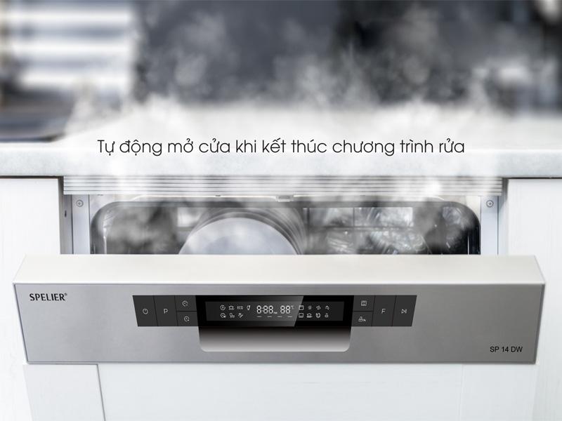 Cửa mở khi kết thúc quá trình rửa