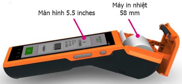 Thiết kế của máy bán hàng cầm tay V1S