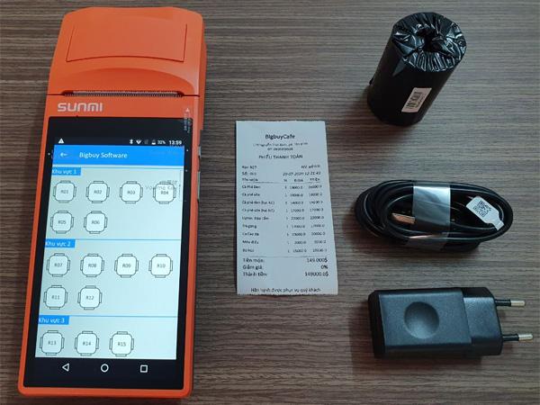Bộ sản phẩm máy bán hàng cầm tay V1S