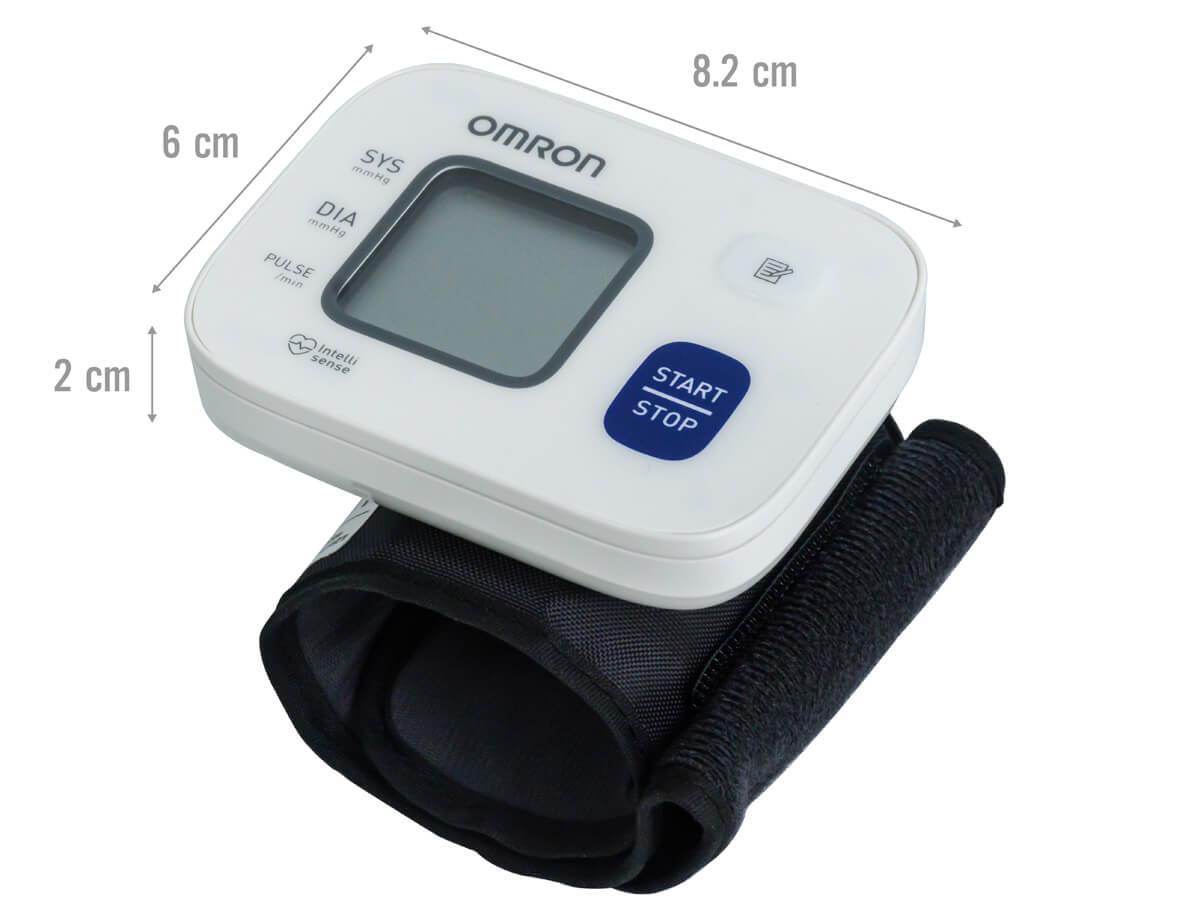 Kích thước máy đo huyết áp cổ tay Omron