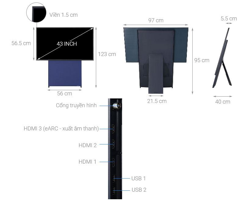 Cấu tạo của tivi Samsung màn hình xoay