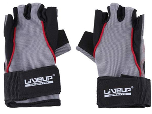 Thiết kế năng động của găng tay tập gym hở ngón Liveup LS3071