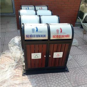 Thiết kế 2 ngăn hỗ trợ quá trình phân loại rác