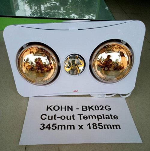 Đèn sưởi nhà tắm BK02GR