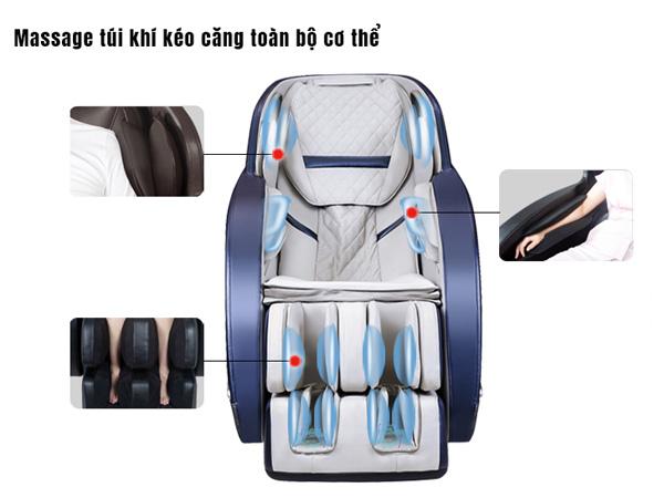 Tăng cường hệ thống túi khí massage