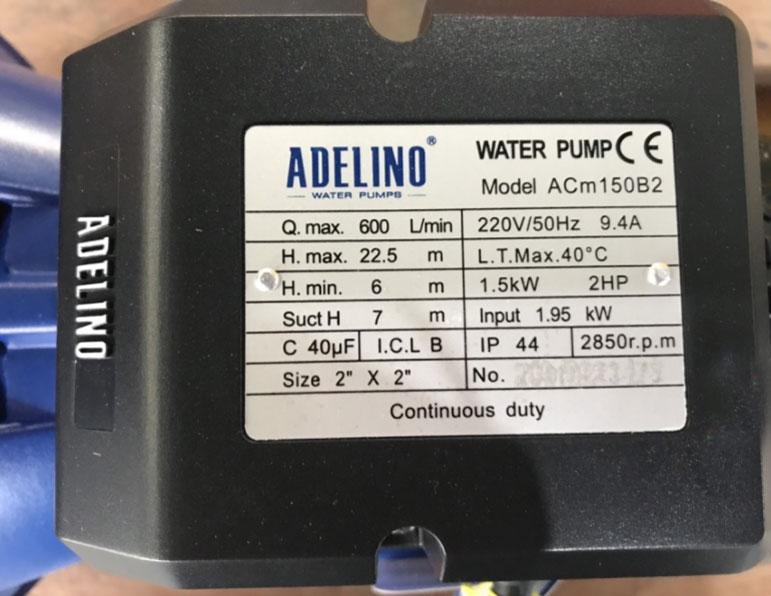 Máy bơm nước ly tâm ADELINO