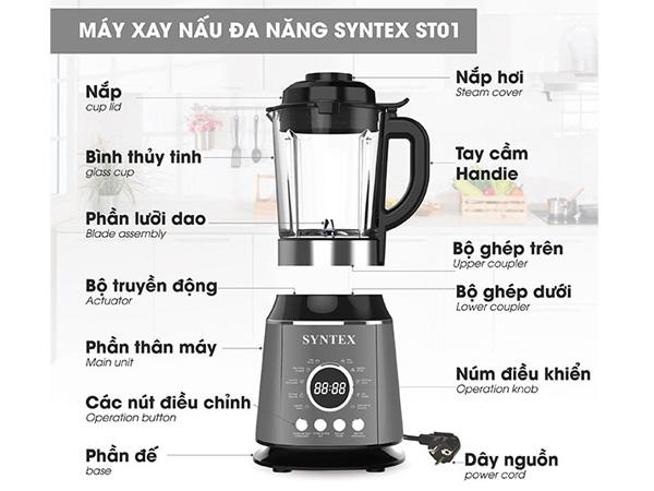 Cấu tạo của máy xay nấu đa năng Syntex ST01