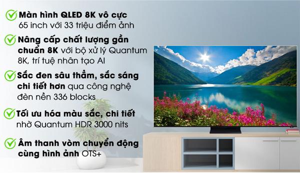 Những ưu điểm nổi bật của QLED Samsung 8K