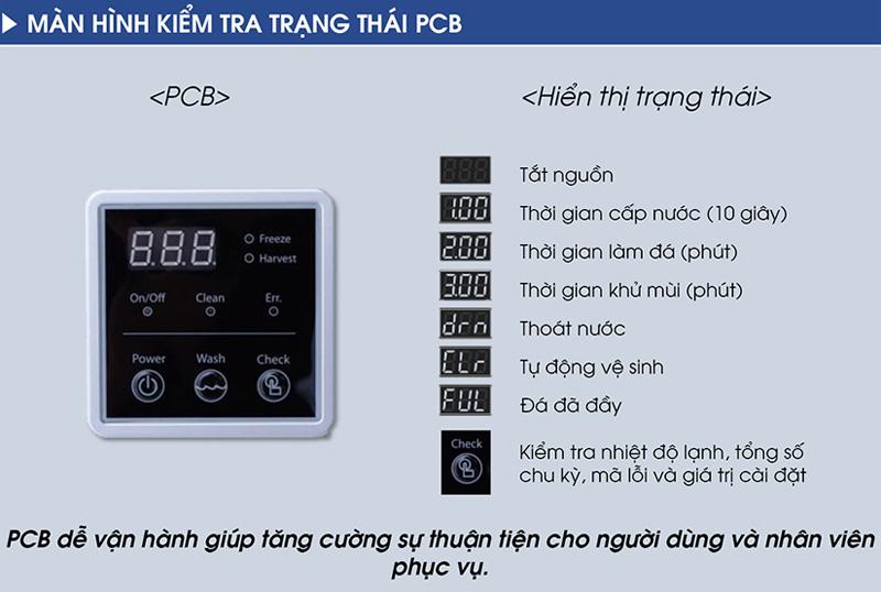 Màn hình PCB hiển thị các chỉ số rõ ràng