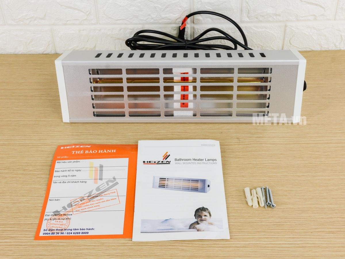 Trọn bộ sản phẩm đèn sưởi Heizen HE-610