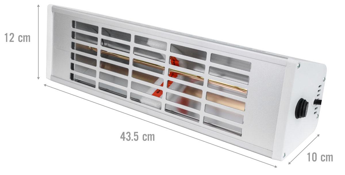 Kích thước đèn sưởi Heizen HE-610