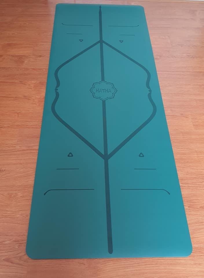 Hình ảnh thảm cao su định tuyến Hatha 5mm màu xanh cổ vịt