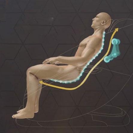 Ghế massage Airbike này được trang bị 6 kỹ thuật massage