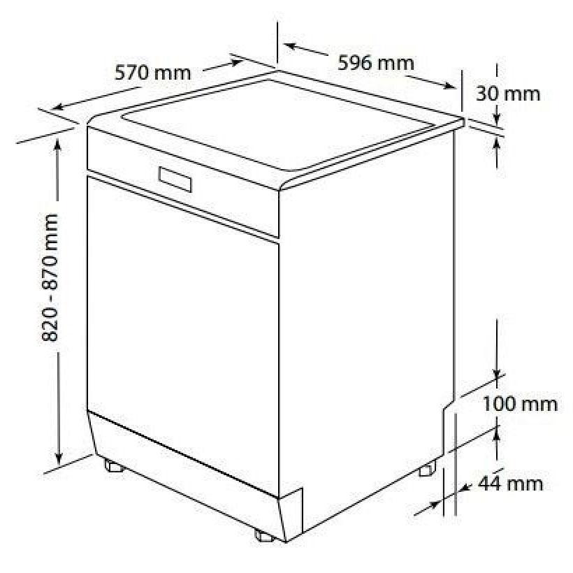 Kích thước sản phẩm máy rửa bát