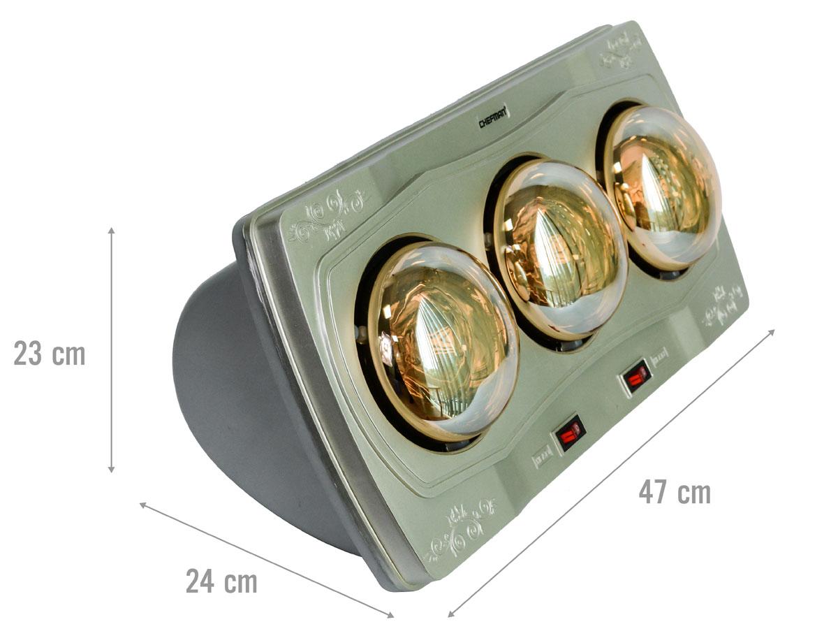 Kích thước đèn sưởi nhà tắm Chefman CM-613B