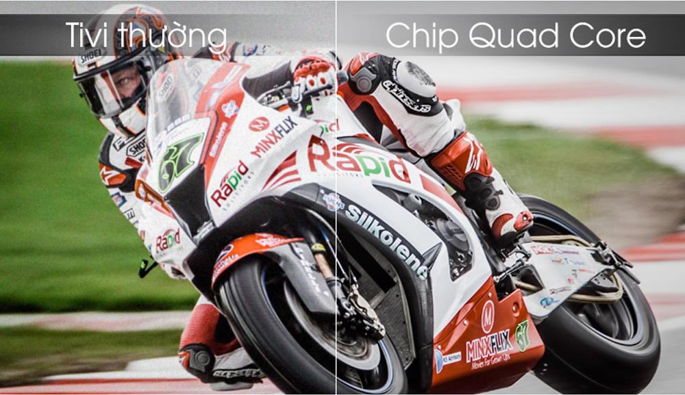 Trang bị chip Quad Core có thể xử lý, tái tạo chính xác nội dung hình ảnh
