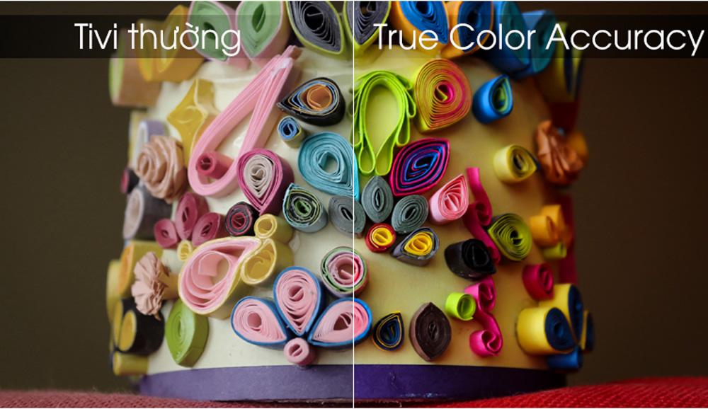 Công nghệ True Color Accuracy cho dải màu sống động