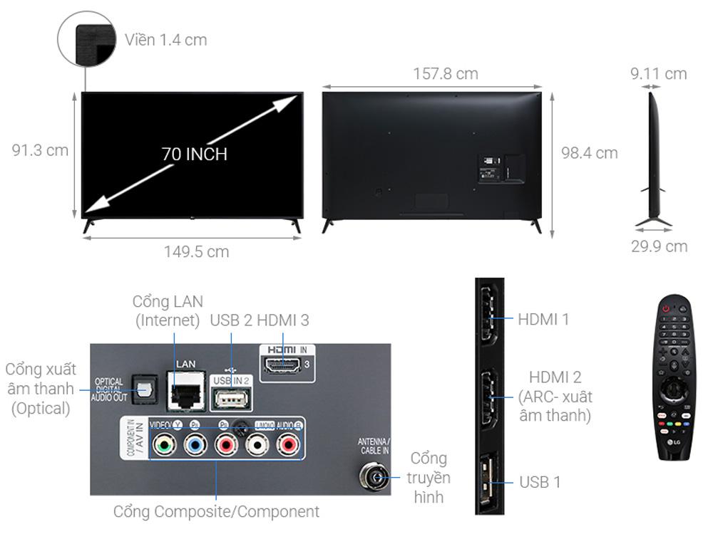 Cấu tạo của tivi 4K LG