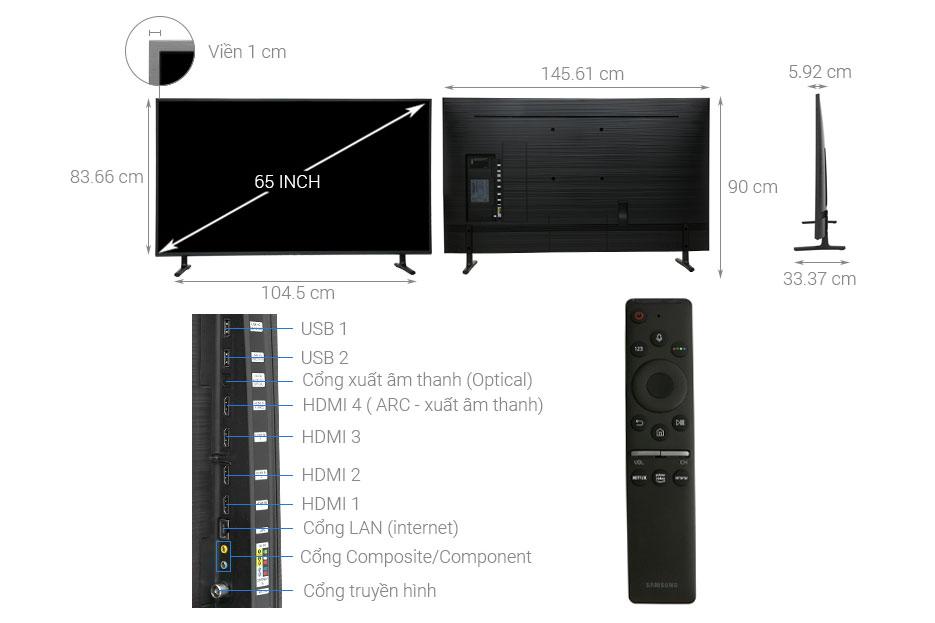 Cấu tạo tivi Samsung UA65RU8000
