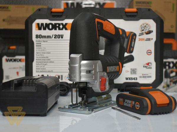 Máy cưa lọng dùng pin Worx Orange WX543