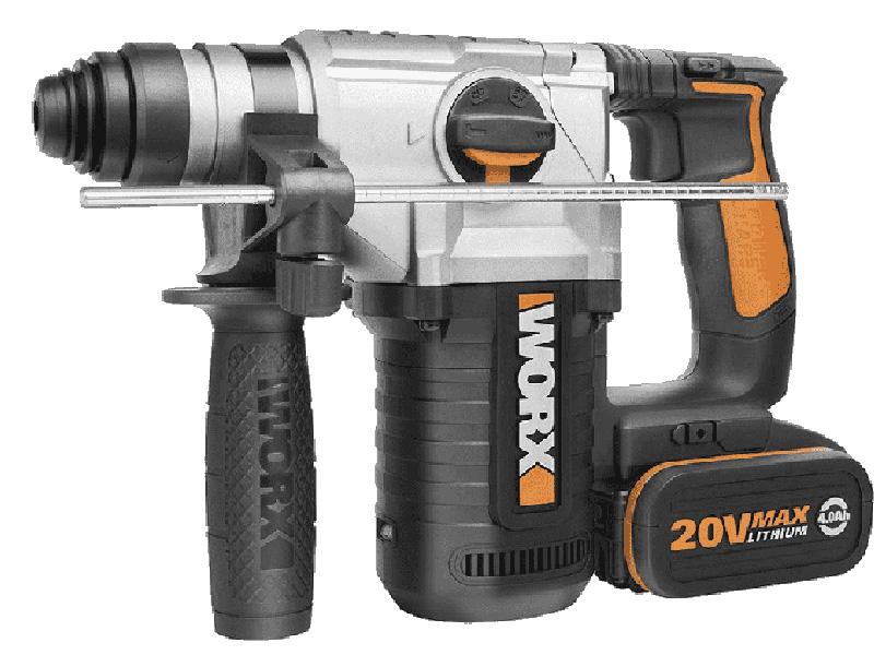 Hình ảnh máy khoan búa dùng pin 20V Worx Orange WX392.1