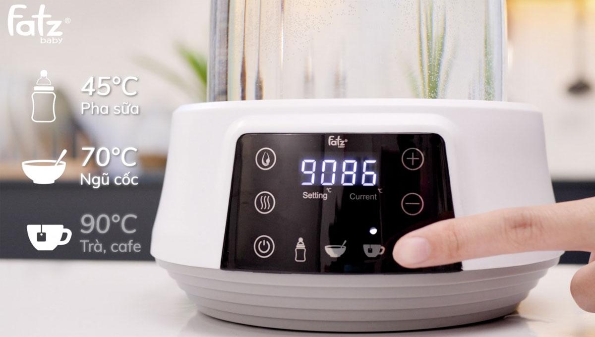 Tùy chọn 3 mức nhiệt tương ứng với các chức năng