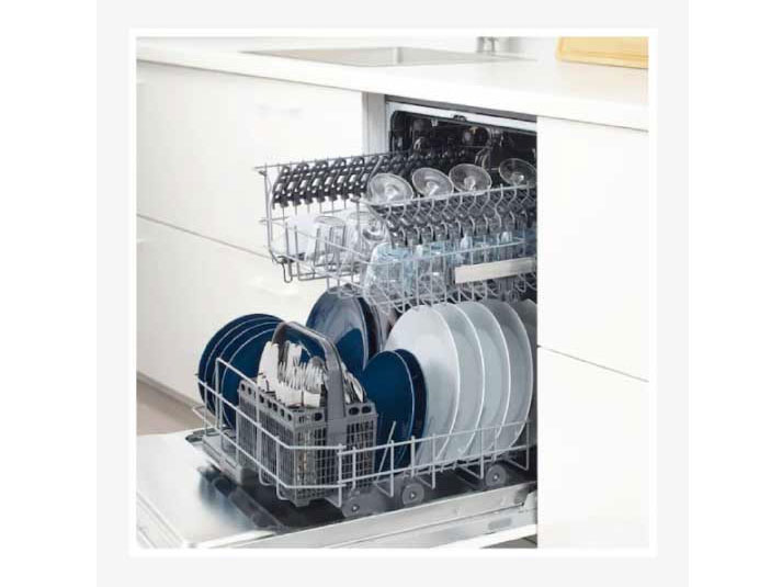 Máy rửa chén Tomate Dishwasher TOM 6012 có khối lượng rửa 12 bộ bát đĩa