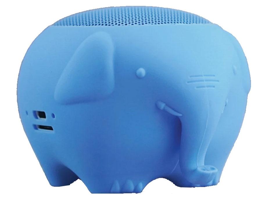 Loa bluetooth SoundMax có hình dáng chú voi con xanh dương dễ thương