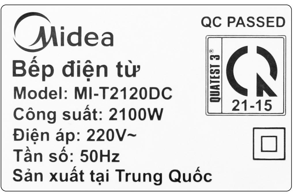Thông số của bếp từ Midea