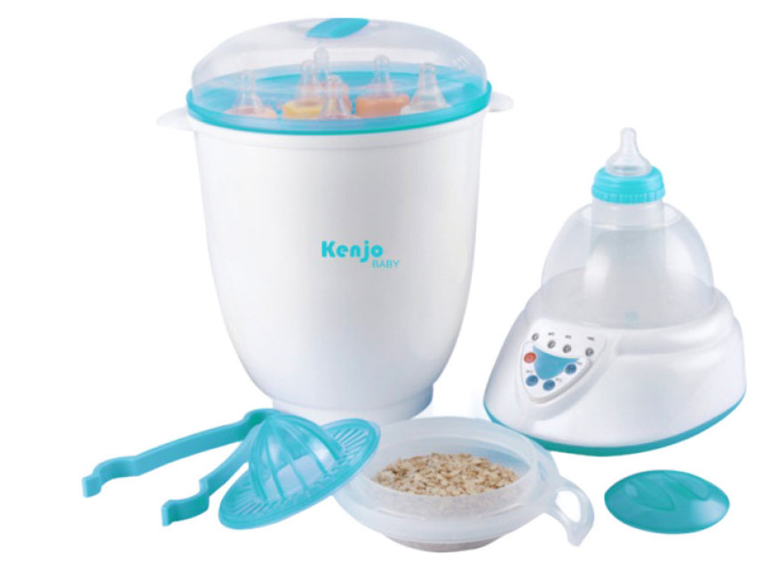 Máy tiệt trùng bình sữa Kenjo (KJ-06N) tích hợp nhiều chức năng