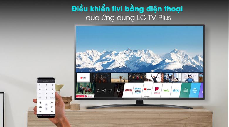 Sử dụng tivi qua ứng dụng  LG plus