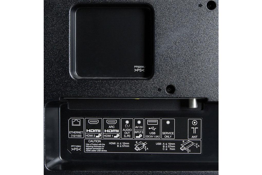TV có thể kết nối với các cổng USB, HDMI, Audio...