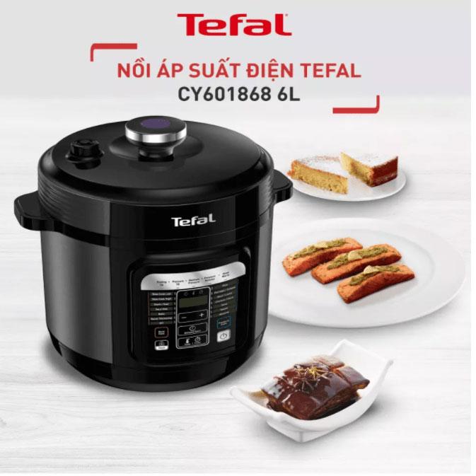 Nồi áp suất điện Tefal CY601868 giúp nấu nướng đơn giản hơn