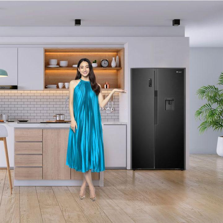 Tủ lạnh Casper Side by Side RS-575VBW với dung tích lớn