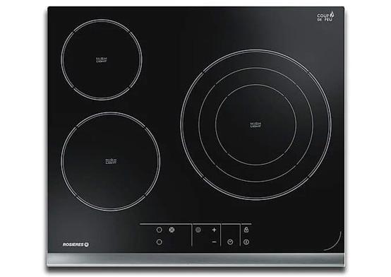 Hình ảnh bếp hồng ngoại 3 vùng nấu Rosieres RVEF633INK
