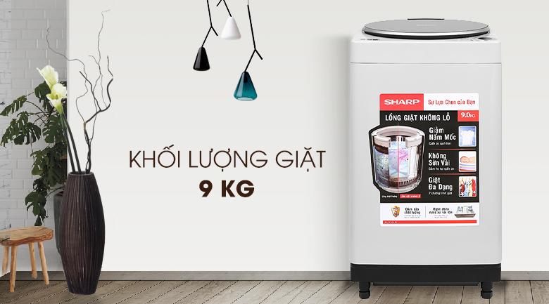 Máy có khối lượng giặt 9kg
