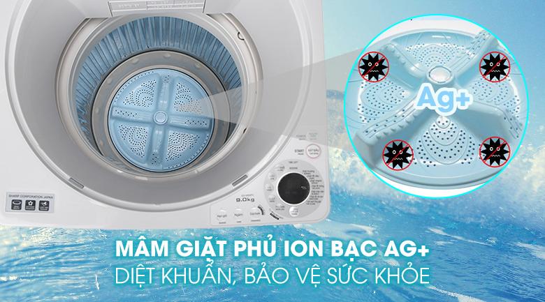 Mâm giặt ion bạc
