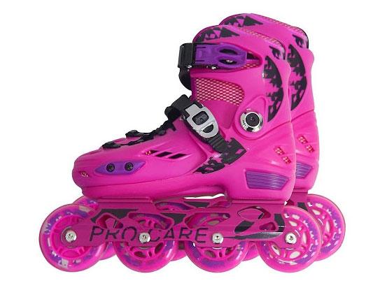 Giày trượt patin PRO-CARE 808 màu hồng