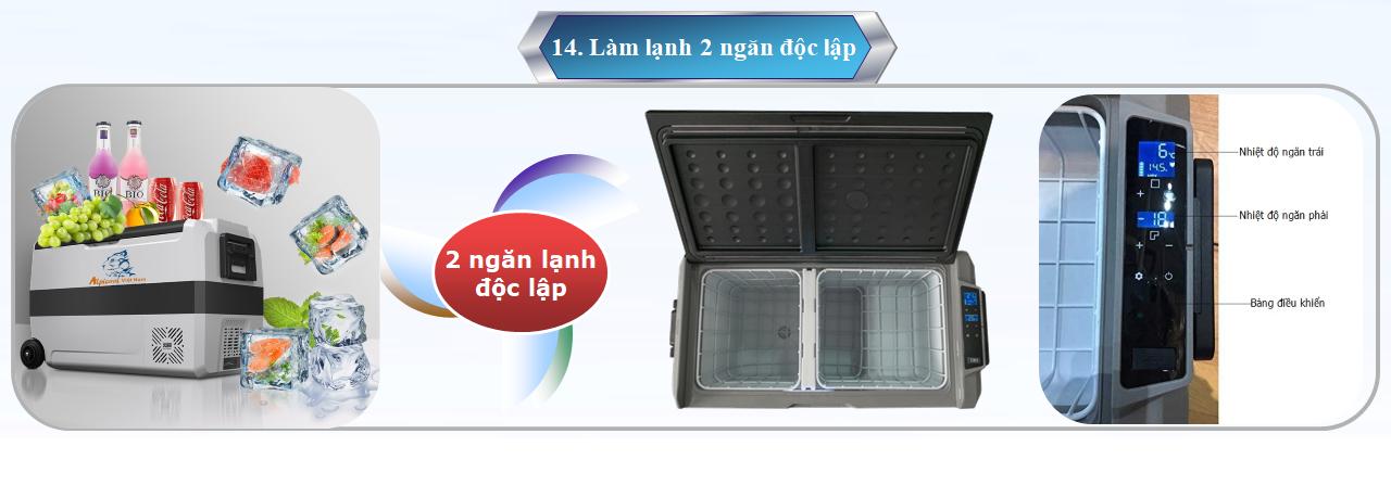 Hai ngăn có điều chỉnh nhiệt độ riêng