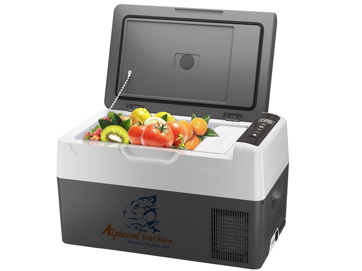 Tủ lạnh mini Alpicool G22 phù hợp dùng cho gia đình và ô tô